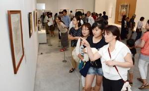 大勢の来場者でにぎわった「ピカソ展 ルートヴィヒ・コレクション」=佐賀市の県立美術館