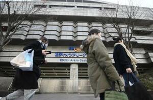 大相撲春場所の会場のエディオンアリーナ大阪=2020年3月、大阪市浪速区