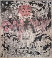「チェリ・レ・ド・ボイ」(2006年、壁紙、カラーインク・鉛筆)