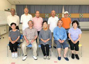 佐賀江北ビッキー支部スポーツ吹矢6月定例会の参加者