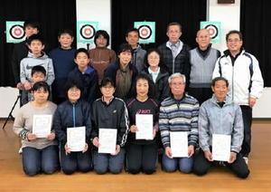 平成28年度よかっ太良クラブスポーツ吹き矢大会の参加者
