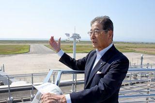「川副町民の翼」台北へ 定期便就航記念