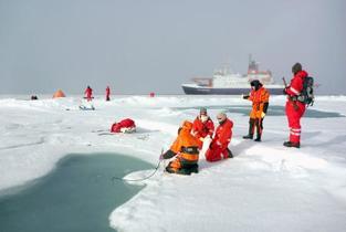 北極の海氷にプラスチック粒子