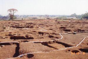 北内郭の環壕と物見やぐら跡