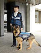 嘱託犬指導、永渕さんに県警が感謝状 「リアン」と100回…