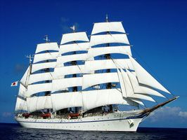 佐賀県内に入港するのは20年ぶりとなる国内最大の帆船「日本丸」(独立行政法人海技教育機構提供)
