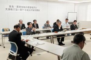 佐賀県管理河川の減災に向け、対策を確認する鹿島・藤津地区の関係者=鹿島市の新世紀センター