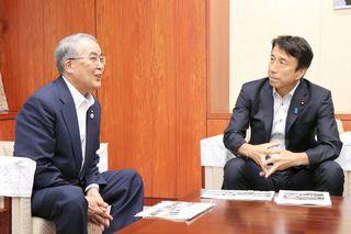 長崎知事、農相に諫早開門差し止め確定を要望