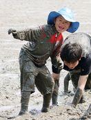 泥んこガタ開き 七浦海浜スポーツ公園