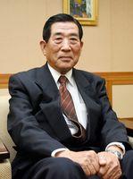 敬徳高校の理事長に新しく就任した谷口太一郎さん=佐賀市天神の佐賀新聞社