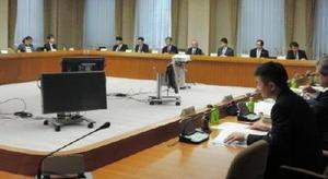 有明海再生に向けた報告書の素案をまとめた評価委員会の作業小委員会=東京・三田の三田共用会議所