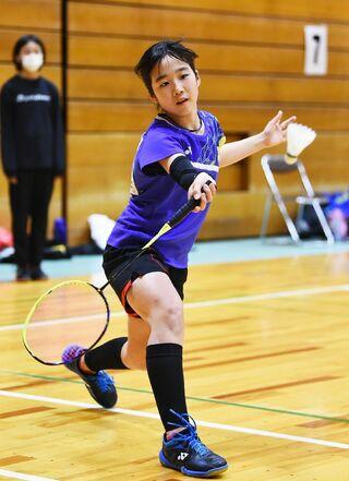 <学童五輪・バドミントン>川上ジュニア・永渕友梨華 6年生以下女子優勝