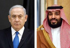 イスラエルのネタニヤフ首相(左)、サウジアラビアのムハンマド皇太子(いずれもロイター=共同)