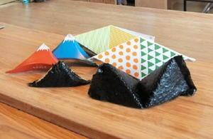 カラフルな型紙を使って作るオリニギリ
