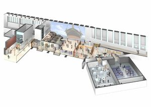 佐野常民記念館に整備する三重津海軍所跡屋内展示室のイメージ図(佐賀市提供)