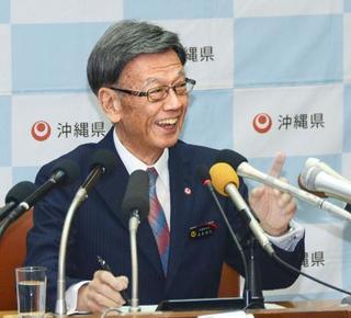 沖縄県の翁長知事が退院