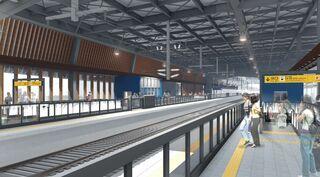 九州新幹線、武雄温泉駅駅舎工事が本格化 対面乗り換えホーム整備