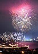 夜空に大輪6000発 九州花火大会、23万人魅了