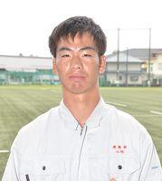 山崎海さん(18)=佐賀工高建築科3年=