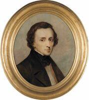 アリ・シェフェール《フリデリク・ショパンの肖像》(1847年、油彩・カンヴァスドルトレヒト美術館)