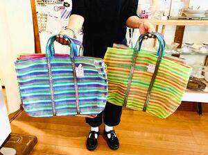 台湾のカラフルなバッグ。エコバッグにも使えます