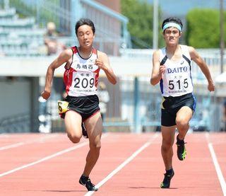 九州中学校体育大会 鳥栖西・田中、陸上200頂点