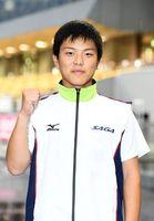 自転車少年男子スプリントで6位入賞した橋本宇宙(龍谷高)=愛媛県の松山中央公園多目的競技場