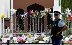 銃乱射事件から1週間となったヌール・モスク=22日、ニュージーランド・クライストチャーチ(共同)