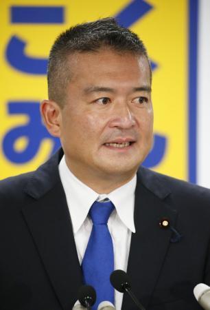 国民・津村氏、代表選出馬を表明