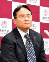 イコモスの会長に就任し、記者会見する河野俊行氏=12月28日、福岡市の九州大