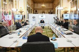 ロンドンで開かれているG7外相会合=4日(ゲッティ=共同)