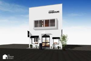 ゲストハウス「HAGAKURE」の完成イメージ(M.DESIGN STUDIO提供)
