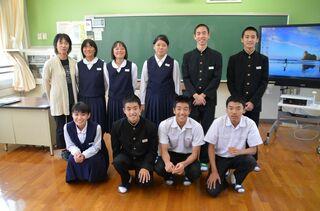 さが維新塾(23)大野原中学校(嬉野市) で出前授業