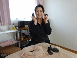 嬉野のお茶の実から取れるオイルを生かしている鈴木美津子さん