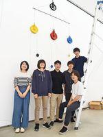 「表現と空間と言葉」展に出展する学生たち=佐賀市本庄の佐大美術館