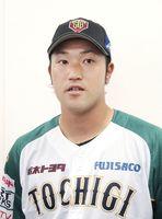 取材に応じる元プロ野球DeNAの北方悠誠投手=12日、栃木県足利市