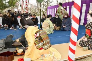 北野天満宮で梅花祭、規模は縮小
