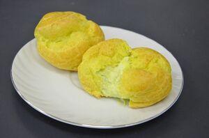 8日の佐志食堂に出される「小松菜シュークリーム」