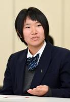 川﨑志保さん(杵島商2年)