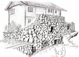 蕨野の防風石垣民家