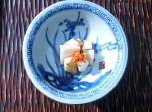菊芋の柚子胡椒あえ