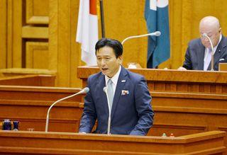 佐賀県知事、長崎新幹線フル規格を改めて否定 県議会開会