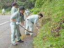 河内ダム周辺の道路を清掃 鳥栖市の大島組 桜の木記念植樹…