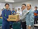 <佐賀豪雨>県有明海漁協、油流出防止で知事に謝意