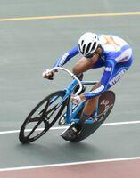 自転車の個人4種目を制した龍谷3年の牧瀬治貴=武雄市の武雄競輪場
