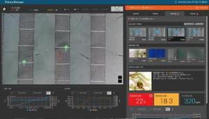 オプティムが開発したシステムの画面。空撮した画像データやブイから送られてきた海況データを基に病害などを自動解析して検知する(同社提供)