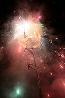 十八夜のラストを飾った回転花火「ジャーモン」