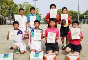 全日本小学生選手権大会及び西日本大会県予選・男子の上位入賞者