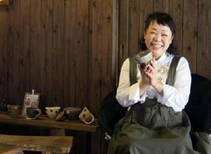 「作品を取りに来られた時の顔を見るのが一番の楽しみ」と話す江島鈴江さん