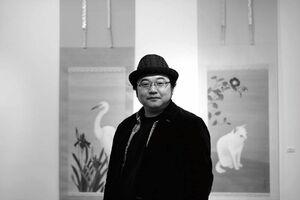 佐賀市の日本画家大串亮平さん(提供写真)